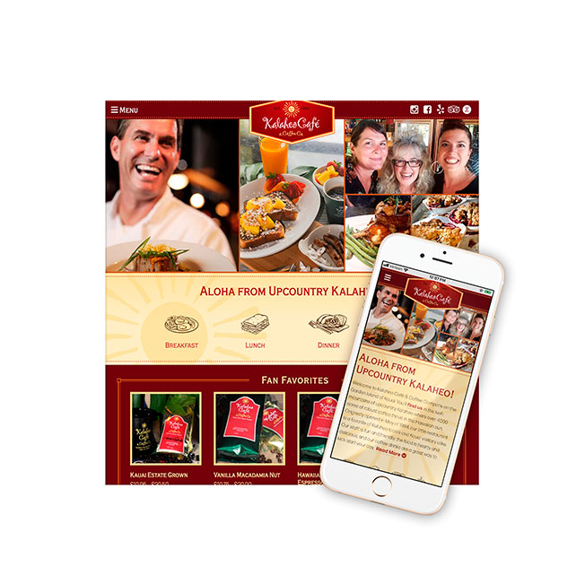 Kalaheo Café Website Design