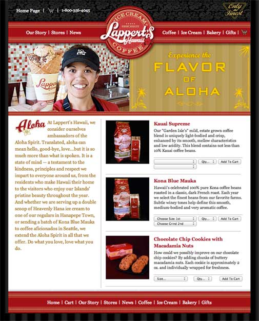Lappert's Hawaii Website