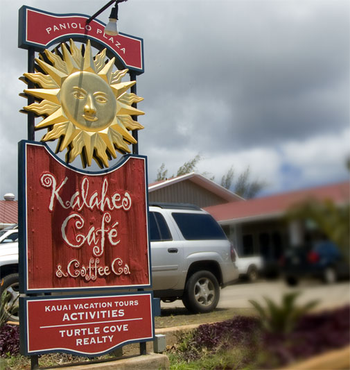 Kalaheo Café Sign Design