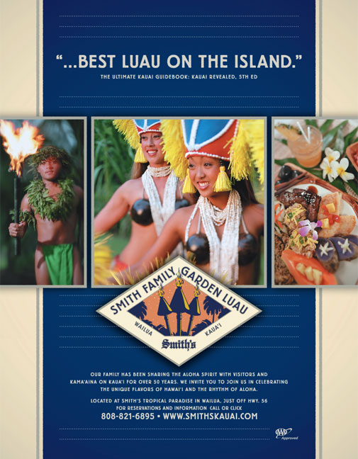 Smith's Luau Advertising