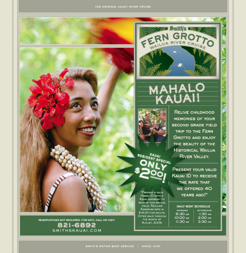 Smith's Kauai Full Page Ad