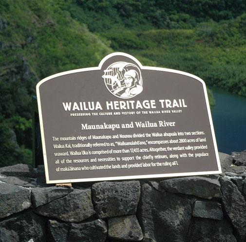 Wailua Heritage Trail Markers