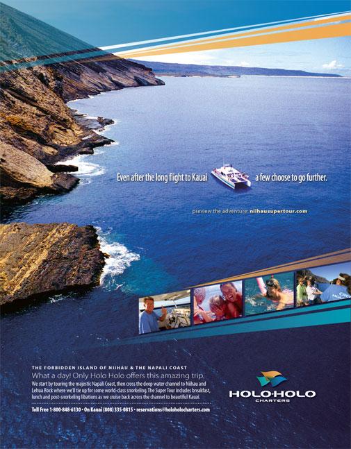 Holo Holo Charters Print Ad