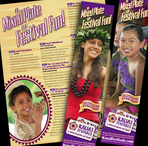 Kauai Festivals Print Advertising