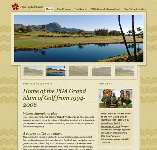 Poipu Bay Golf Course Website