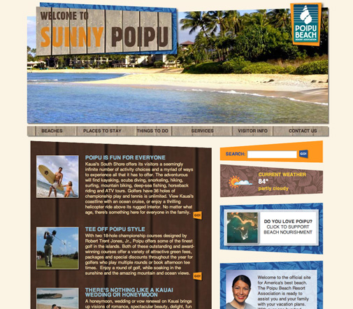 Poipu Beach Website Design
