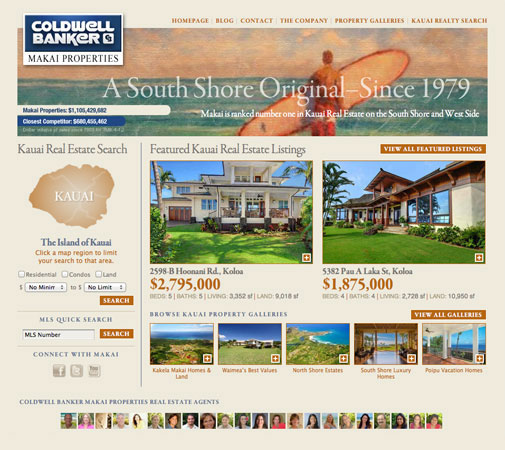 Realty marketing website development for Home design websites