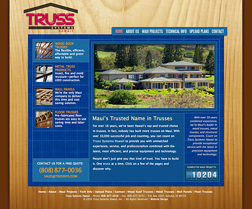 Truss Systems Website Design