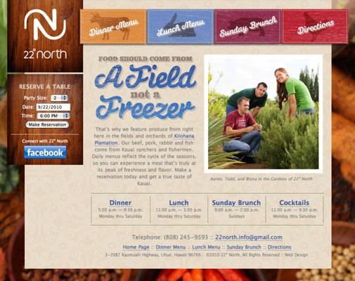 22° North Website Design