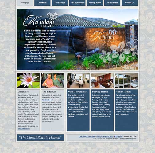 Ka'iulani of Princeville Website