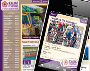 Kauai Festivals Mobile Website Design