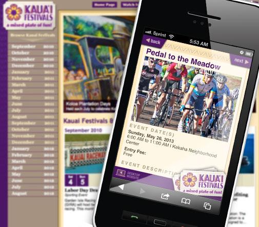 Kauai Festivals Responsive Website Design