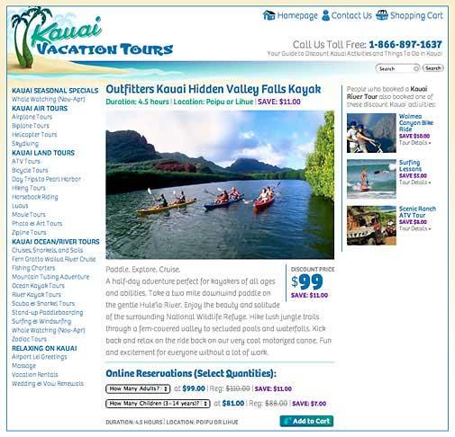 KauaiVacationTours.com Website
