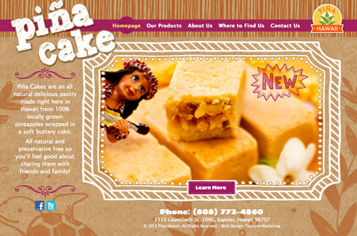 Piña Hawaii Website Design