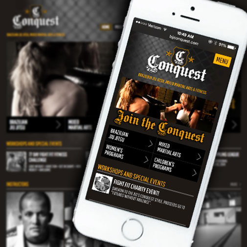 Conquest Responsive Website