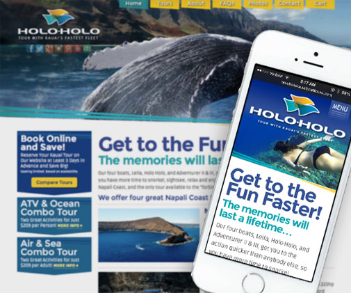 Holo Holo Charters Mobile Website