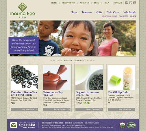 Mauna Kea Tea Website Design