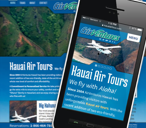 AirVentures Mobile Website