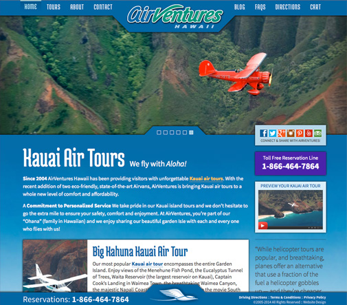AirVentures Wordpress Website