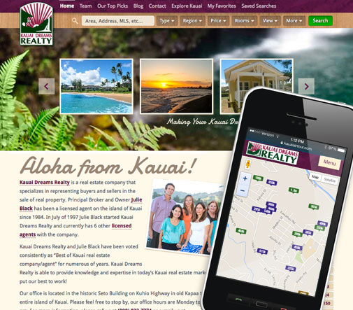Kauai Dreams MLS Website Design