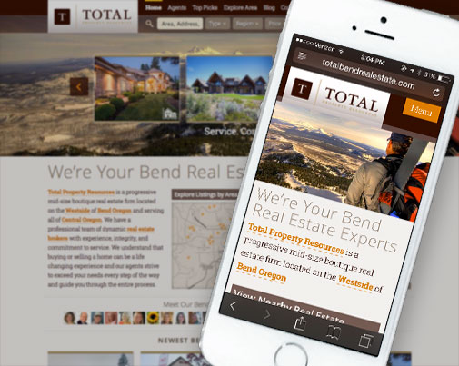 Total Property Mobile Website Design