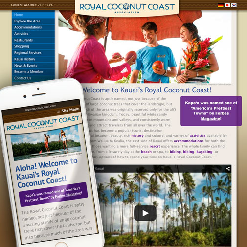 Royal Coconut Coast Website Design