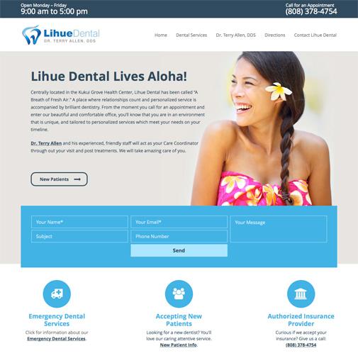 Lihue Dental Website Design