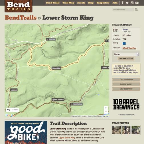 Bend Trails Website