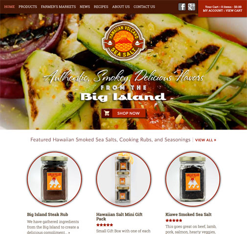 Hawaiian Volcano Sea Salt Website