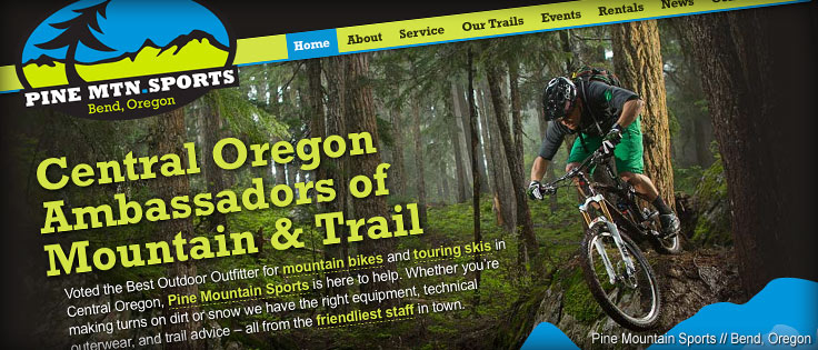 Pine Mountain Sports Website Design