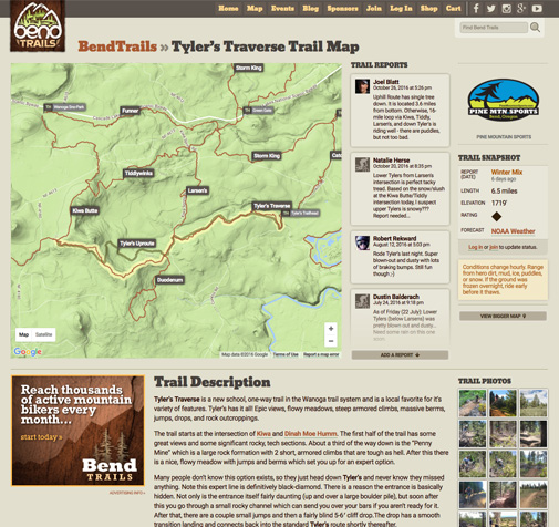 Bend Trails Website