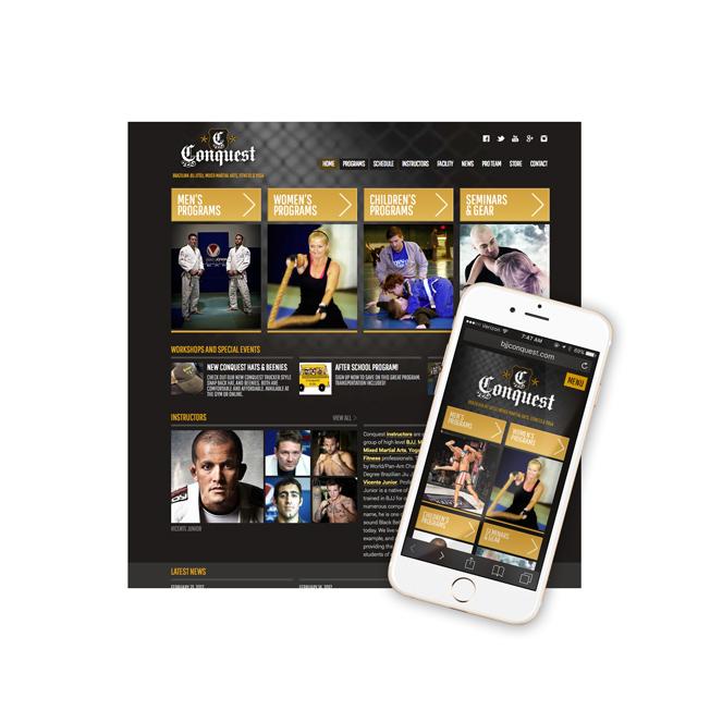 Conquest Website Design