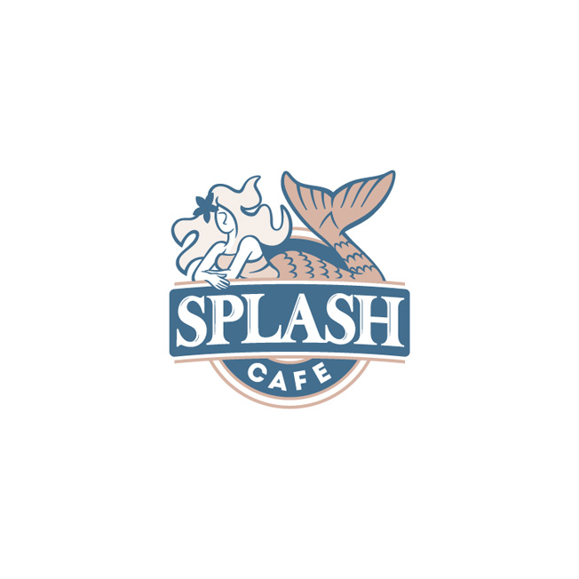 Splash Café Logo Design