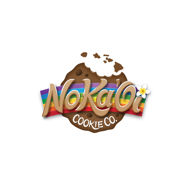 NoKa'Oi Cookie Logo Design