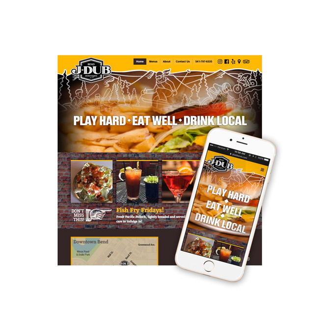J-DUB Restaurant Website Design