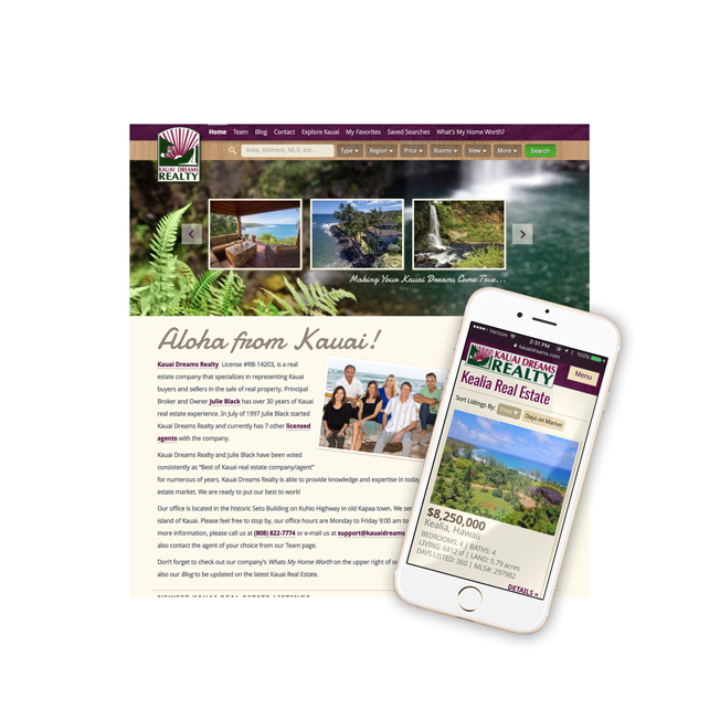 Kauai Dreams MLS Website Design
