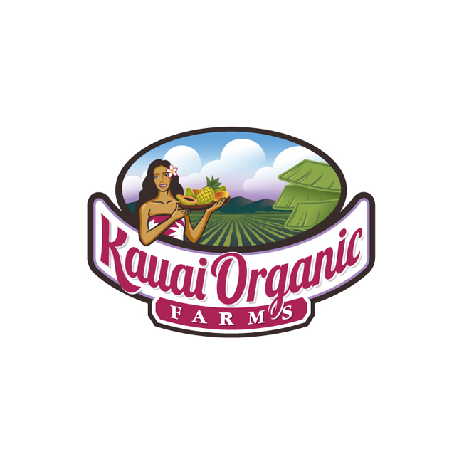 Kauai Organic Farms Logo Design