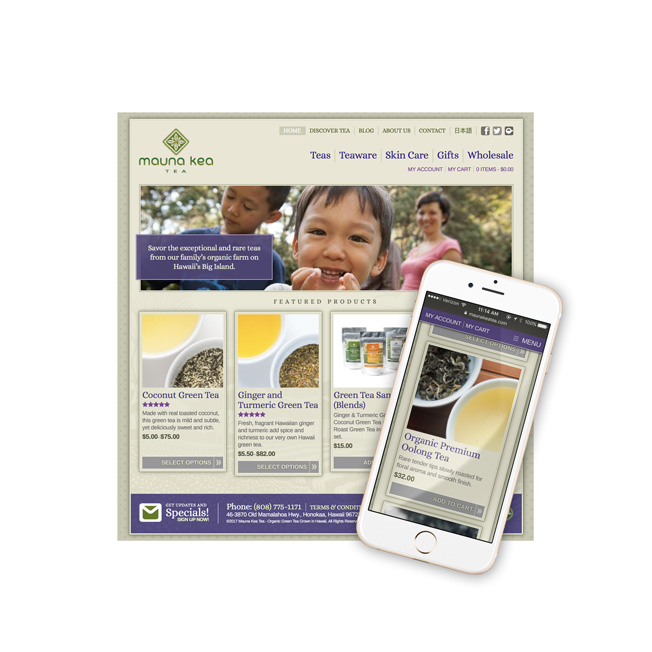 Mauna Kea Tea Website Design