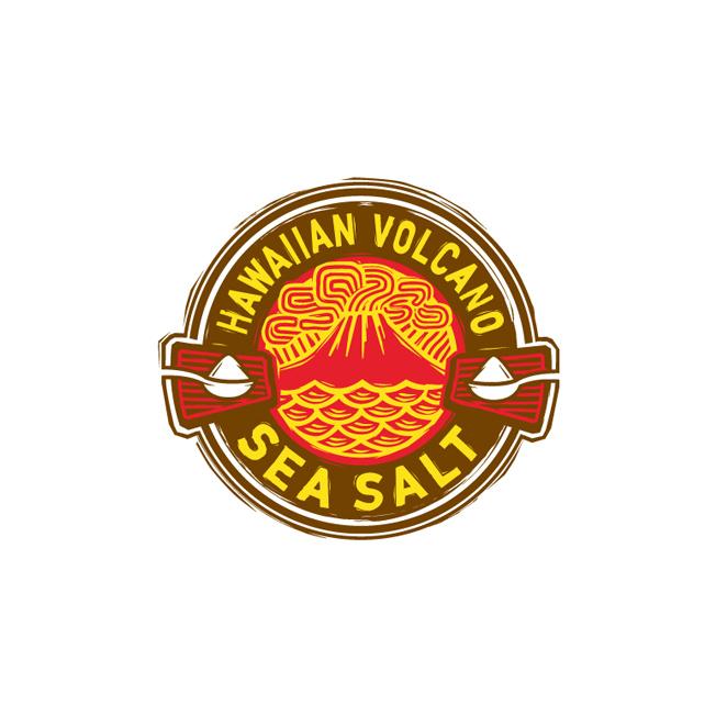 Hawaiian Volcano Sea Salt Logo Design