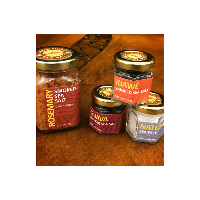 Hawaiian Volcano Sea Salt Jar Label System