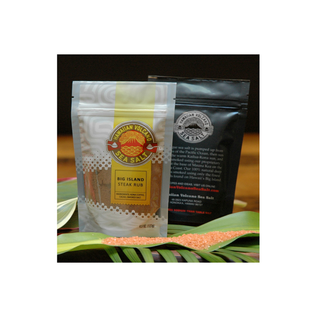 Hawaiian Volcano Sea Salt Packaging