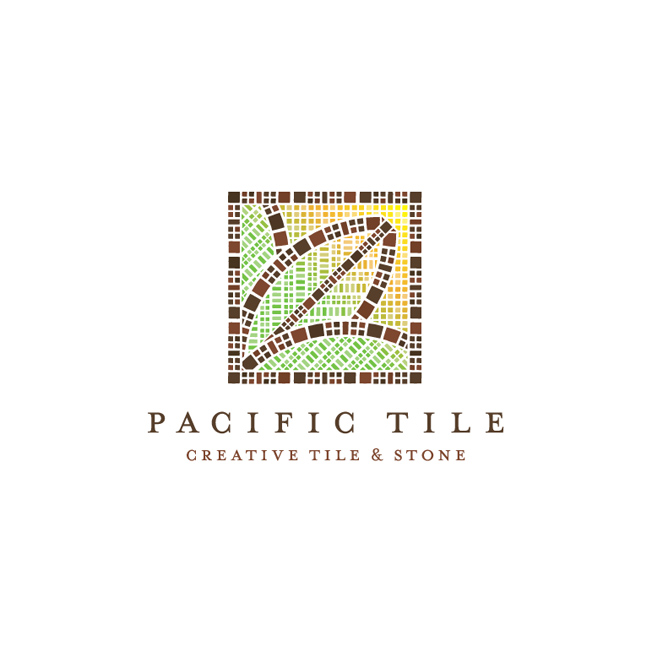 Pacific Tile Logo Design