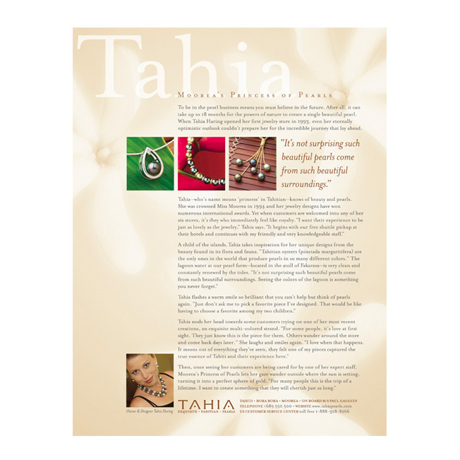 Tahia Pearls Advertorial