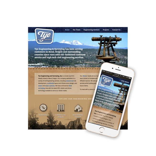 Tye Engineering & Surveying Website Design