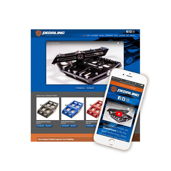 Pedaling Innovations Website Design