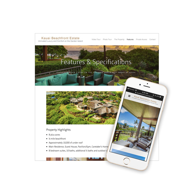 Aliomanu Estate Website Design