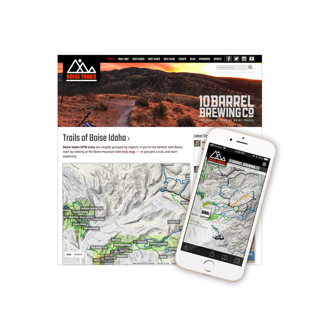 Boise Trails Website Design