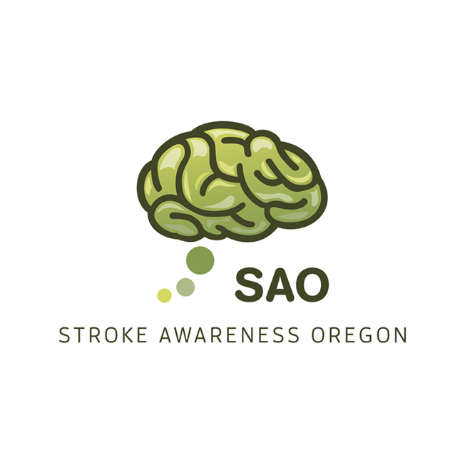 Stroke Awareness Oregon Logo Design