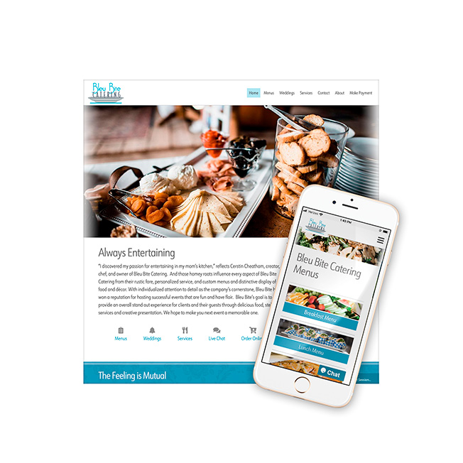 Bleu Bite Catering Website