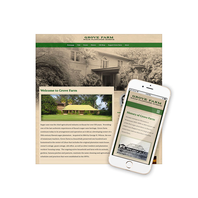 Grove Farm Museum Website Design